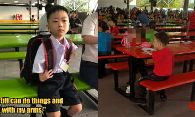 Inspiring Kepong Boy With Deformed Arms is Fine With School Kids Making Fun of Him - WORLD OF BUZZ