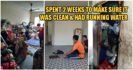 Kind Malay Man Cleans Up Poor Chinese Family's Home For Free So They Can Celebrate CNY - WORLD OF BUZZ