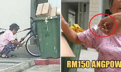 Kind Man Gives RM150 Angpow to Aunty Picking Rubbish During CNY, Asks Her to Go Home & Rest - WORLD OF BUZZ 3