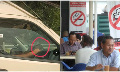 KKM Staff Member Caught Smoking In Ambulance, Netizens Worried For Patients - WORLD OF BUZZ 2