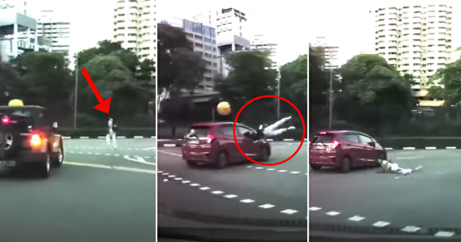 Video: Driver Rams Into Teen On Pedestrian Crossing As He Did Not See Him While Turning - WORLD OF BUZZ