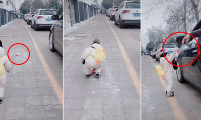 Watch: 1Yo Boy Picks Up & Gives Back Rubbish That Man Threw Out Of Car Window - World Of Buzz