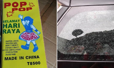 Malaysian Boy Throws 'Pop Pop' At Mother's Car, Shatters & Cracks The Window - WORLD OF BUZZ