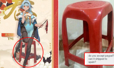 Man Advertises Red Pasar Malam Stool As Cosplay Prop for RM284 & Someone Actually Wants It! - WORLD OF BUZZ