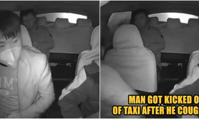 Man Just Got Kicked Out By Taxi Driver After Coughing - WORLD OF BUZZ