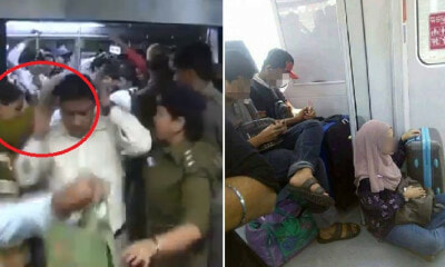 Men Travelling In Ladies-Only Train Coach Punished with Tight Slaps By Police Officers - WORLD OF BUZZ 5