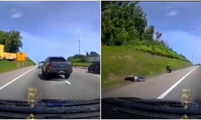 Motorcyclist Got Hit By Reckless Driver - World Of Buzz