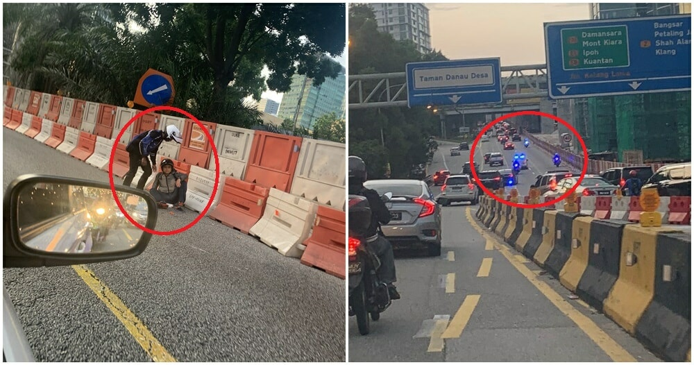 M'sian Motorcyclist Forced Off Road, Gets Into Accident To Make Room For VVIP Escorts - WORLD OF BUZZ 5