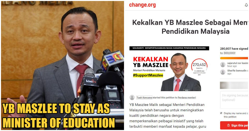 Netizens Create Petition to Have Dr Maszlee Bin Malik Back As Minister of Education - WORLD OF BUZZ 2
