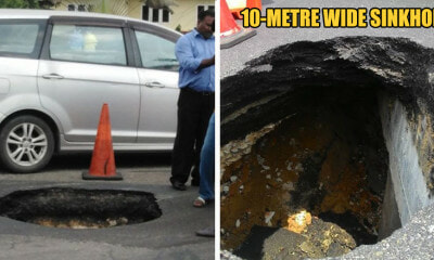 New Year, Same Klang Roads: 10m-wide Sinkhole in Klang - WORLD OF BUZZ 5
