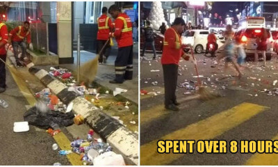 Photos: Cleaners Had Collected Over 9,000KG Of Rubbish After KL New Year's Eve Parties - WORLD OF BUZZ