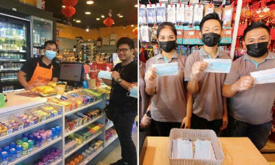These Kind KK Stores Are Giving Free Masks To Prevent Wuhan Virus Instead of Selling Them - WORLD OF BUZZ