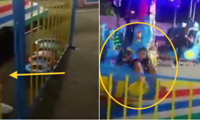 Video: Children's Fun Chair Broke, Throwing One Victim Out Of The Seat, Injuring Two Carnival Goers - WORLD OF BUZZ 3