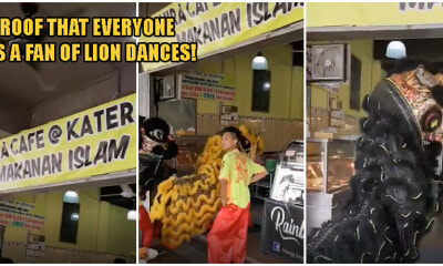 Video: S'wak Lion Dancers Perform At Malay-Owned Restaurant For CNY, Earns Fans From Netizens - WORLD OF BUZZ