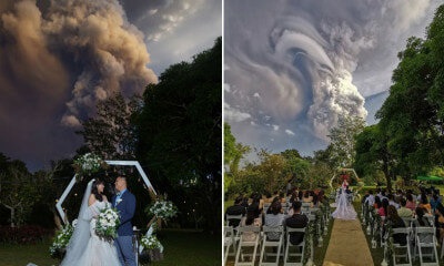 This Couple Got Married While the Taal Volcano Erupts 20km Away & The Photos Are Stunning! - WORLD OF BUZZ