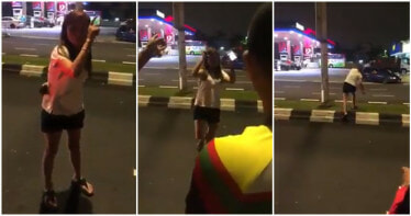 "Watch: Drunk Driving M'sian Woman Collides With Car, Still Threatens Passengers Saying, ""My Boss Will Come! - WORLD OF BUZZ"