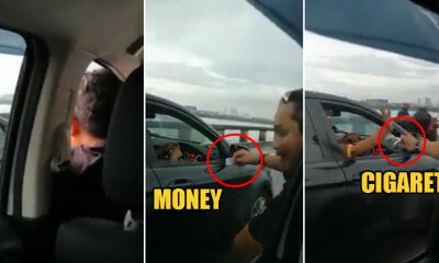 Watch: M'sian Man Stuck in Jam Needs a Puff so Badly, Asks Passing Driver for a Cigarette - WORLD OF BUZZ