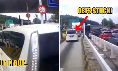 Watch: Nissan Serena Bangs & Cuts Infront of Car to Be 'Faster' But Gets Stuck in Standstill Traffic - WORLD OF BUZZ