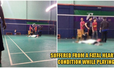 23yo Selangor Man Tragically Dies From Sudden Heart Problems While Playing Badminton At Night - WORLD OF BUZZ