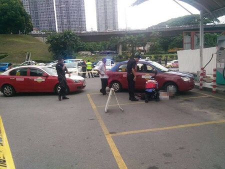 61yo Cheras Taxi Man Beats Friend To Death After He Cuts His Line While Pumping Gas - WORLD OF BUZZ 2