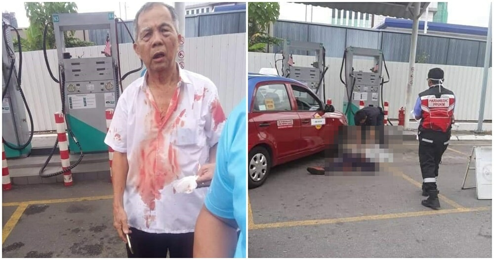 61yo Cheras Taxi Man Beats Friend To Death After He Cuts His Line While Pumping Gas - WORLD OF BUZZ 3