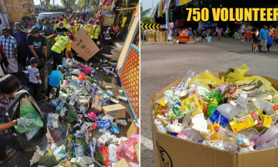 Kind M'sians Gather at Batu Caves, Penang & Ipoh Temples to Clean Up Rubbish After Thaipusam Festival - WORLD OF BUZZ
