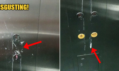 Disgusting Person Spat Saliva All Over Lift Buttons at LRT Station, Police Investigating - WORLD OF BUZZ