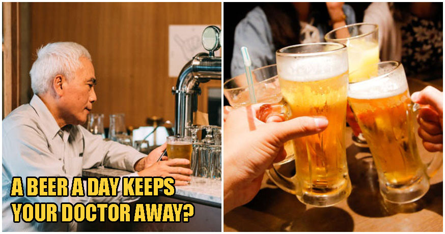 A Beer A Day Can Increase Your Chances of Living Up To 90, According To Research - WORLD OF BUZZ