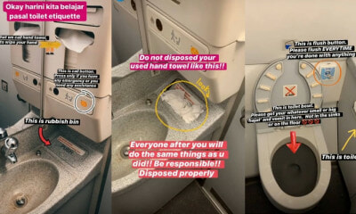 AirAsia Flight Attendant Teaches Everyone The Toilet Etiquette on an Aeroplane - WORLD OF BUZZ 2