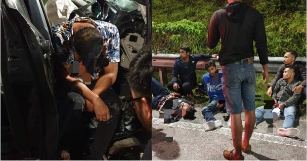 Drunk Driver Crashes Into A Car And Three Motorbikes, Killing One In Negeri Sembilan - WORLD OF BUZZ 5
