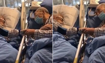 Elderly Couple Infected with Wuhan Virus Hold Hands & Bid Each Other Farewell for Possibly The Last Time - WORLD OF BUZZ 2