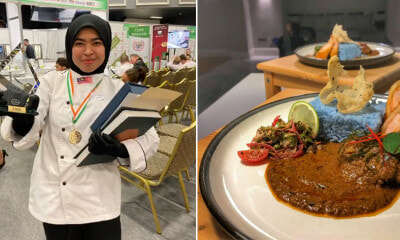 M'sian Girl Wins GOLD With Nasi Lemak Bunga Telang in Prestigious Culinary Competition Held in Ireland! - WORLD OF BUZZ