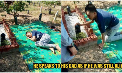Heartbreaking: Autistic Boy Visits His Father's Grave Every Friday As He Misses His Abah Too Much - WORLD OF BUZZ