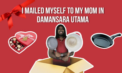 I Mailed Myself to My Mom in Damansara Utama - WORLD OF BUZZ