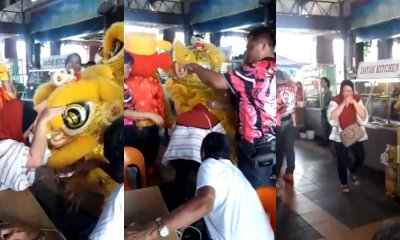 Makcik's Latah-ed As A Lion Dance Troupe Performs At A Local Eatery - WORLD OF BUZZ 5
