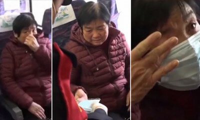 Watch: Worried Woman Didn't Have a Mask On Train, Kind Conductor - WORLD OF BUZZ