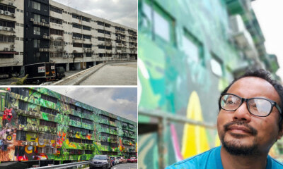 M'sian Artist Turned Old Klang Road Apartment Into Mural Work Of Art In 10 Months - WORLD OF BUZZ