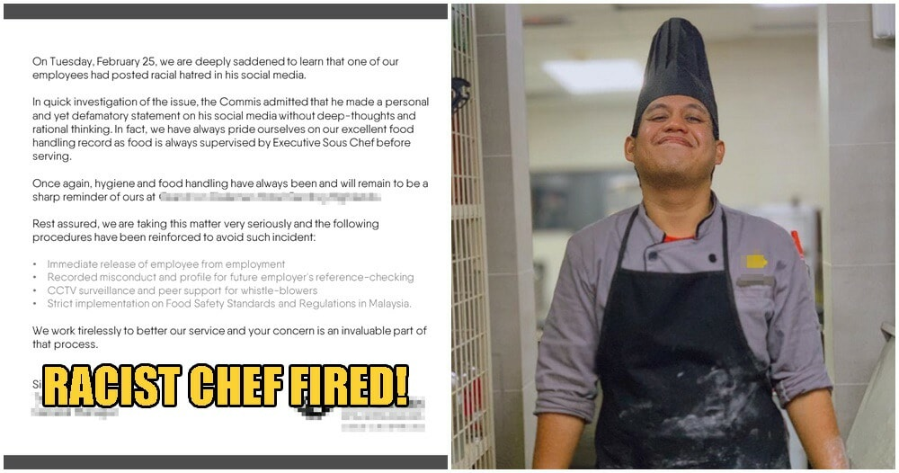 M'sian Grand Hotel Chef Who Spat In Chinese Customers Food Now FIRED From High-Class Eatery - WORLD OF BUZZ 2