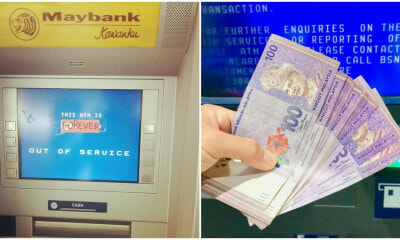 M'sian Shares How She Almost Lost RM1,500 After Withdrawing Cash From 'Out Of Service' ATM - WORLD OF BUZZ 3