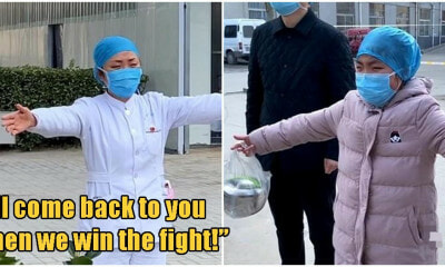 """Mum, I miss you a lot!"" 9yo Girl Tearfully Air Hugs Mum Staying In Hospital To Treat Wuhan Patients - WORLD OF BUZZ 1"