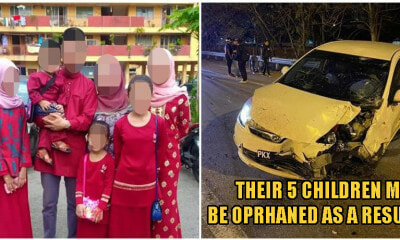 Penang Drunk Driver Crashes Into Motorbike & Kills Father of 5, Wife Left In Intensive Care - WORLD OF BUZZ 1
