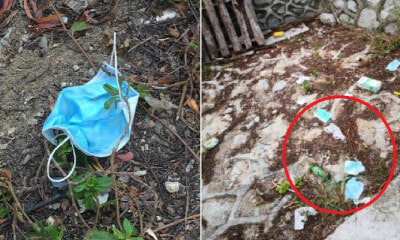 People Are Disgustingly Littering Their Used Surgical Masks In Singapore & Johor - WORLD OF BUZZ