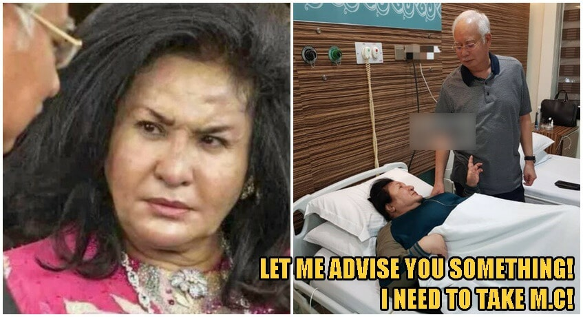 Rosmah Skips Trial & Winds Up In Hospital, Najib Says He Will Stay With Her Throughout Treatment - WORLD OF BUZZ