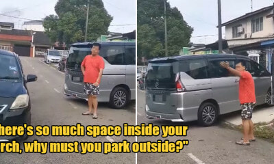 "Watch: M'sian Man Insists Woman Move Her Car So Her Can Reverse, She Tells Him ""There's Plenty of Space - WORLD OF BUZZ"