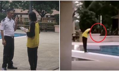 Student From China Caught Openly Spitting Into Condo Pool In Cheras - WORLD OF BUZZ