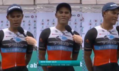 Terengganu Cyclist Win International Admiration By Speaking T-English, Gets Applauded By Netizens For His Effort - WORLD OF BUZZ 3