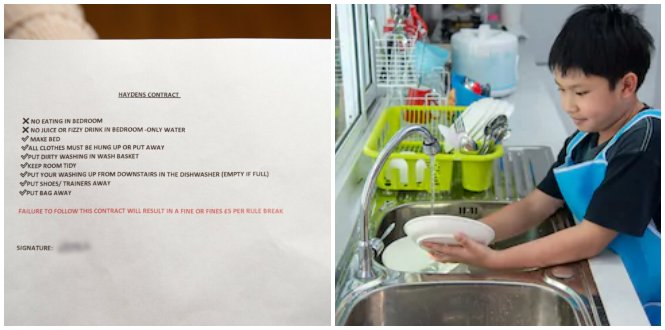 This Genius Mother Made Her Kids Sign A Contract & Imposed Fines If They Didn't Do Their Chores - WORLD OF BUZZ 1