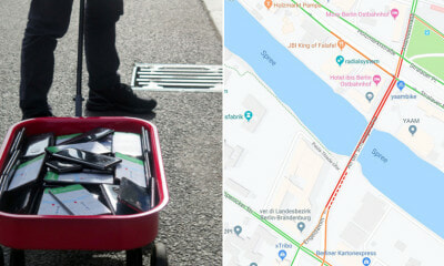 This Guy Created Virtual Traffic Jams By Dragging Around 100 Phones In a Wagon - WORLD OF BUZZ 1