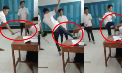 Watch: 3 Indonesian School Bullies SLAP and JUMP-KICK a Helpless Female Classmate - WORLD OF BUZZ 1