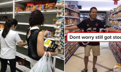 Watch: Man Dances In Front of Fully-Stocked Shelves in KL to Poke Fun At Kiasu S'poreans - WORLD OF BUZZ